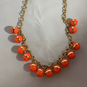 J. Crew Coral Ball Necklace